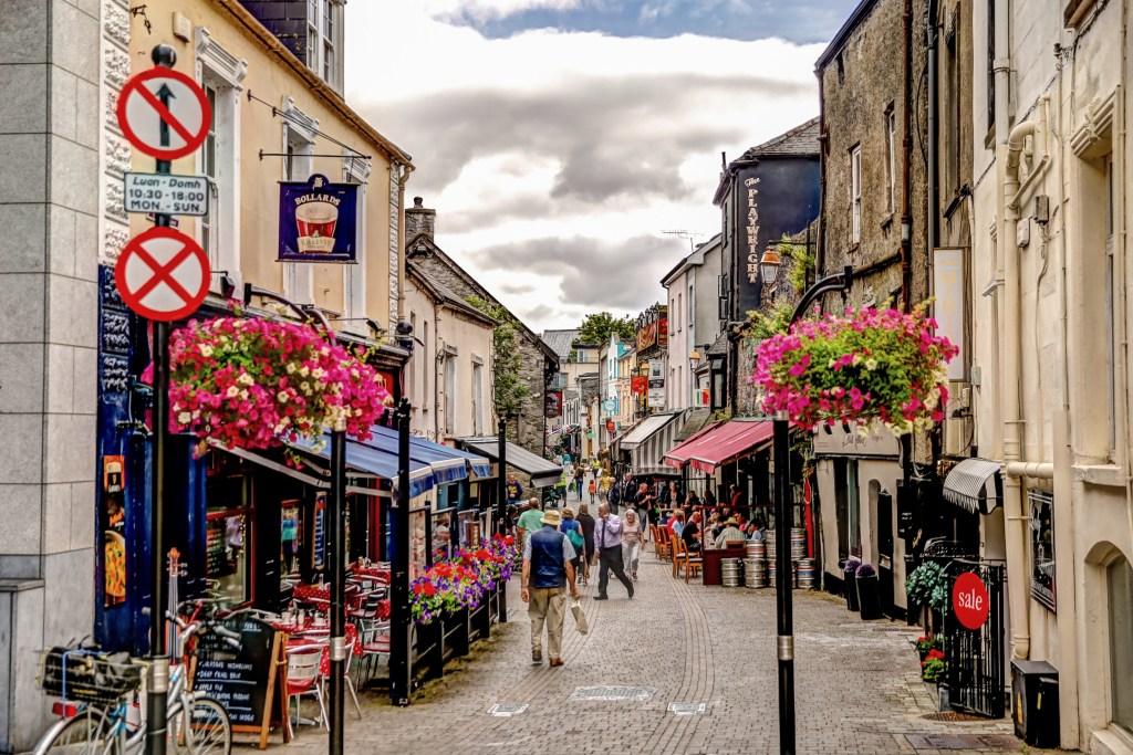 Medieval streets of Kilkenny Ireland