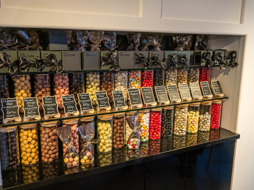 Display of chocolate at CoCuture in Belfast