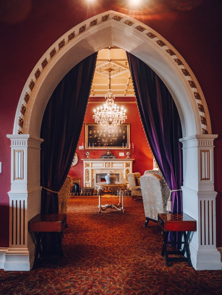 Opulent interior of the Culloden Estate and spa