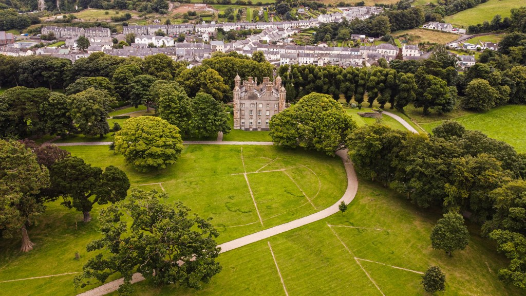 Aerial view of Glenarm Castle a hidden gem in Antrim