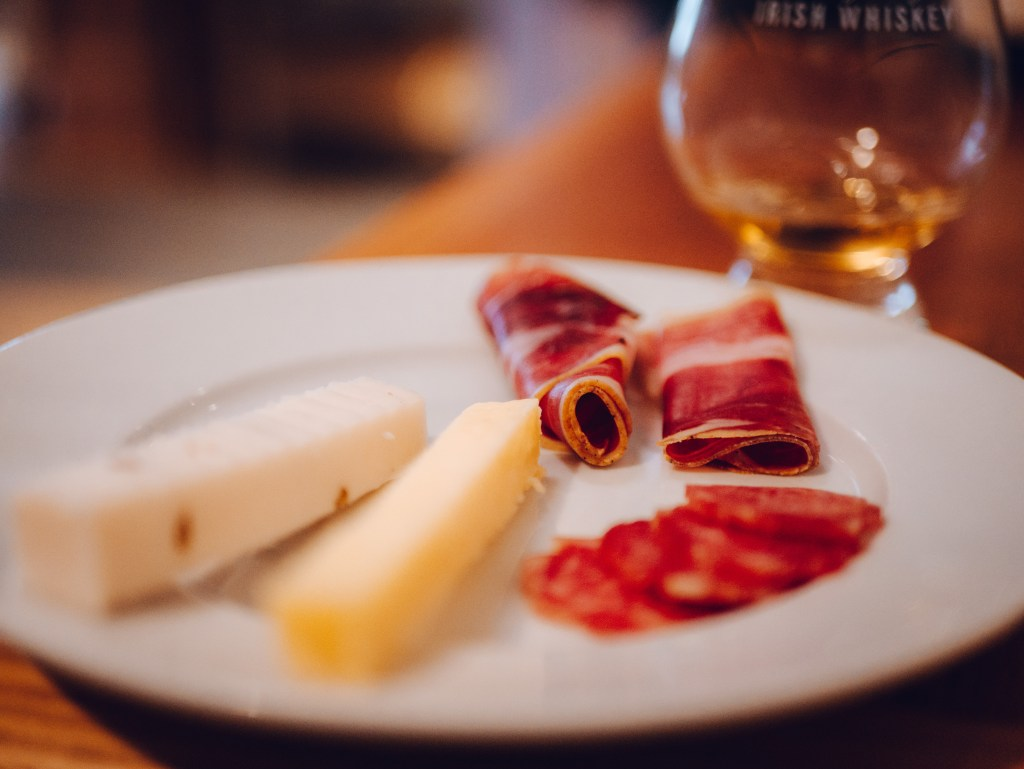 Plate of cold meats and cheese at McCambridges Galway