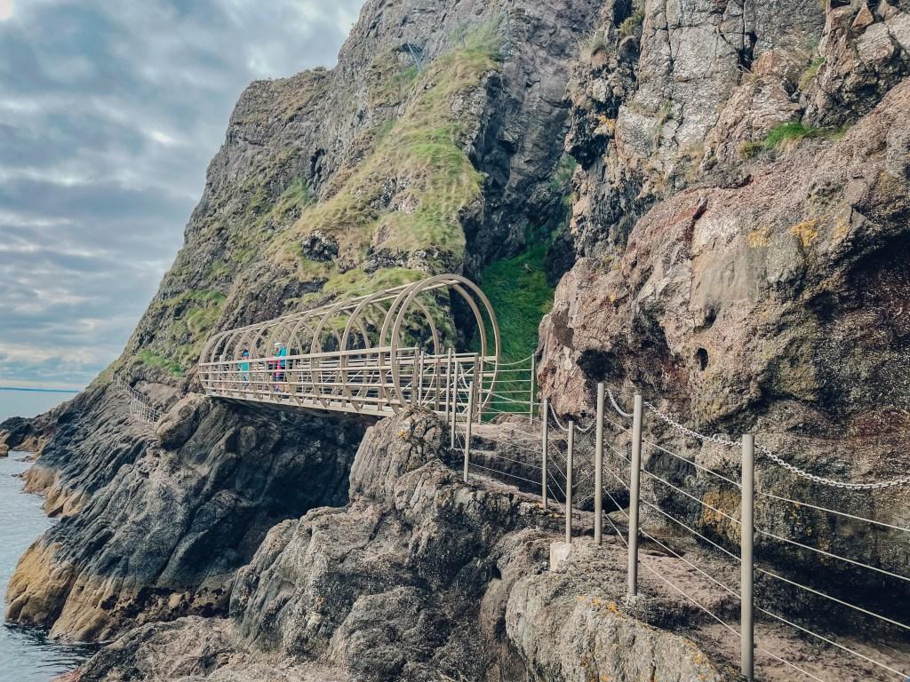 The Gobbins Cliff Walk in County Antrim