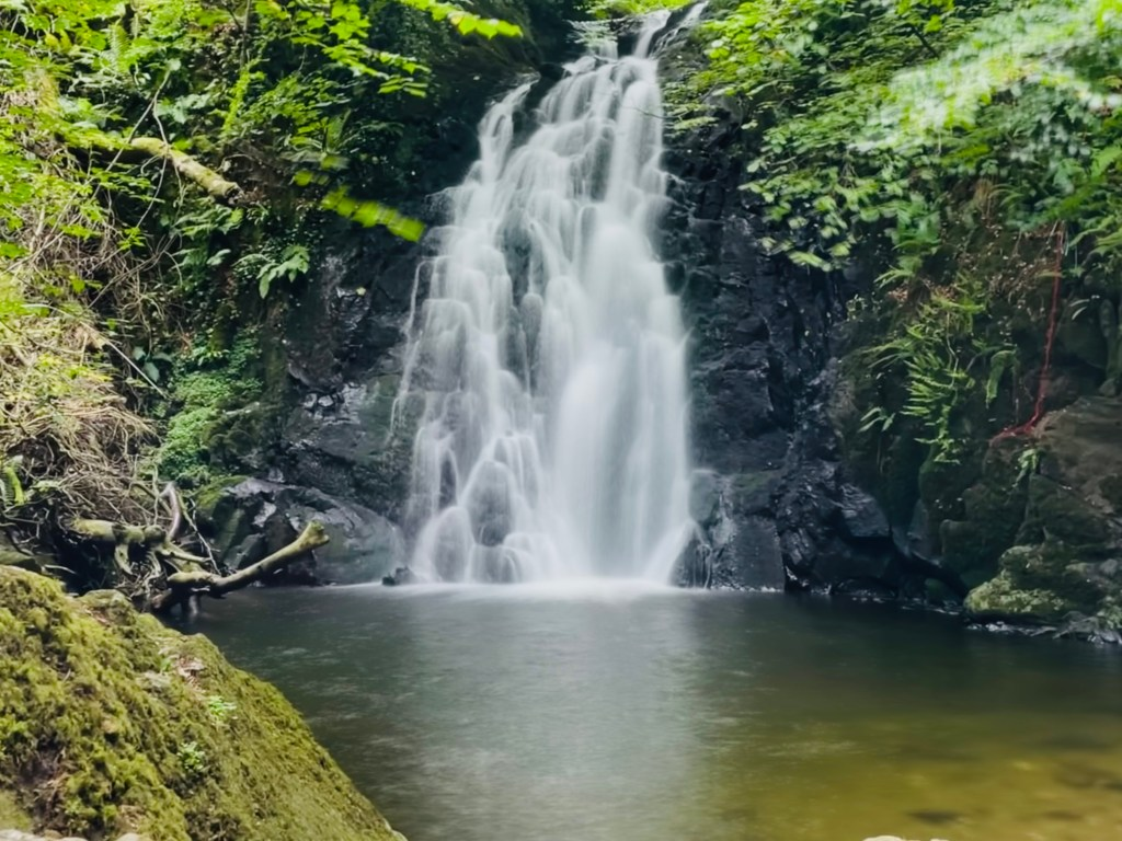 Glenoe Waterfall in Antrim
