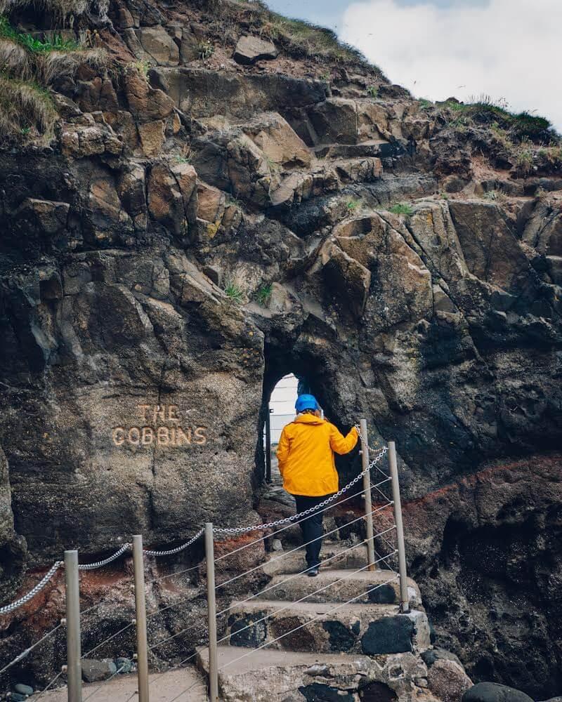 Entrance to The Gobbins Cliff Path a hidden gem in Antrim