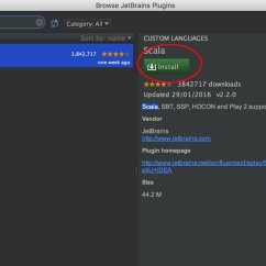 Spark Plugins Sony Cdx Gt600ui Wiring Diagram Scala Environment Setup How To Install Plugin In Intellij 6