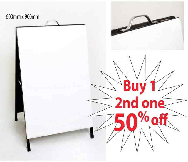 Aframes A-boards or Sandwich boards are great signs for sidewalk advertising