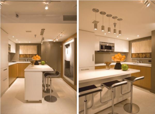 para apartamentos de tamanhos reduzidos é a cozinha integrada