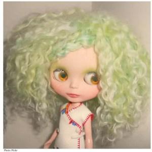 chlorine green blonde hair
