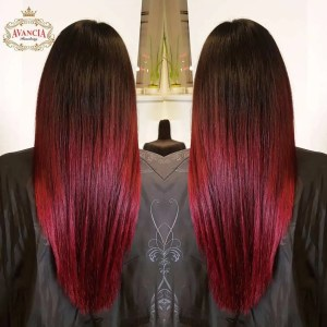 Brown hair with red highlights hairstyles inspiration guide dark brown to red ombre solutioingenieria Choice Image