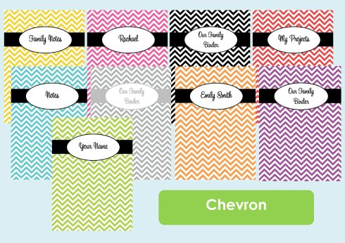 Chevron binder cover listing photo