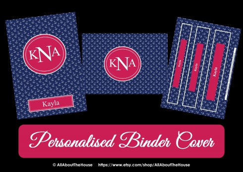personalised binder cover allaboutthehouse2