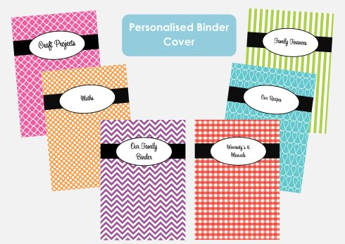 personalised binder cover listing photo