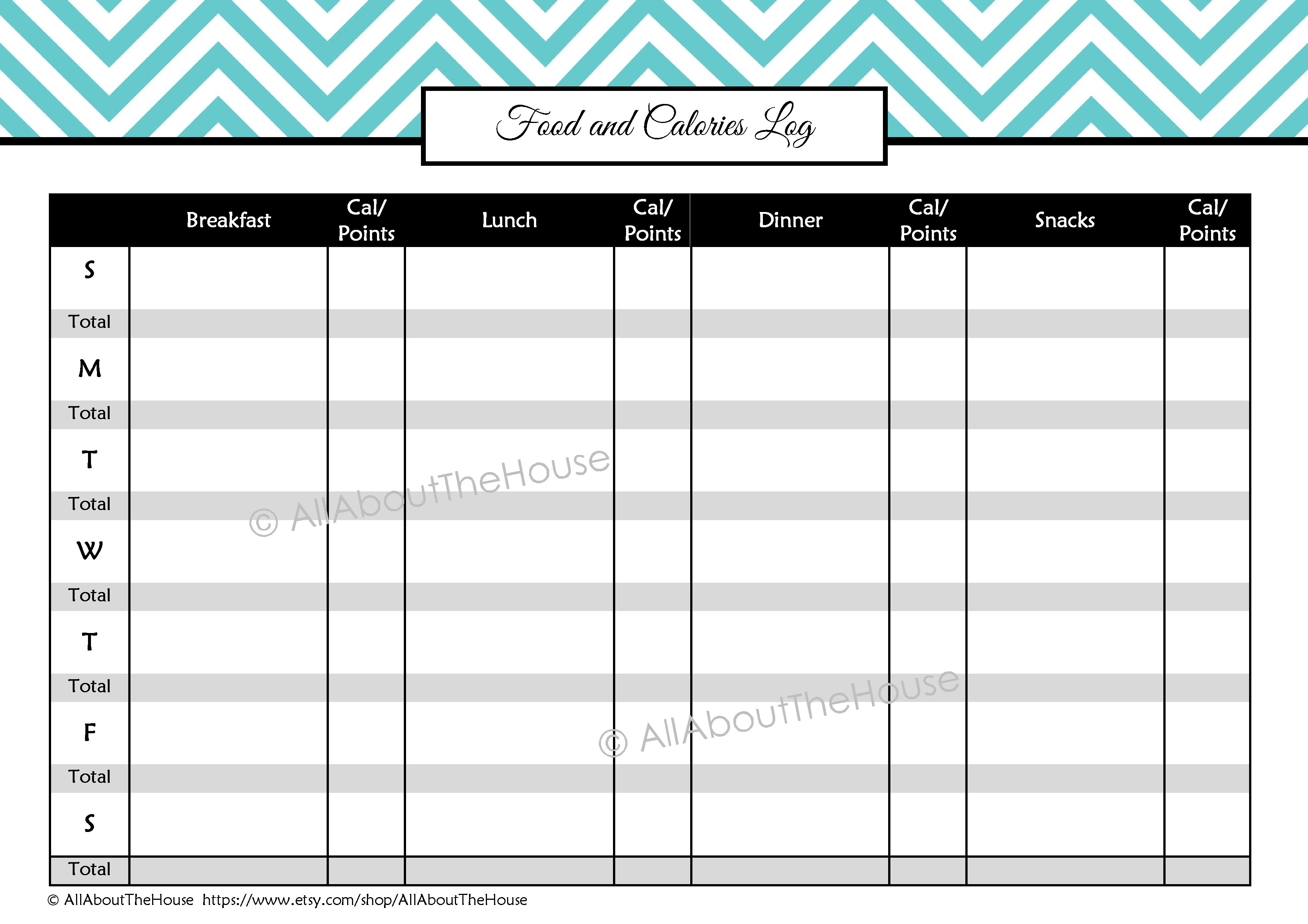 Health And Fitness Printables Kit