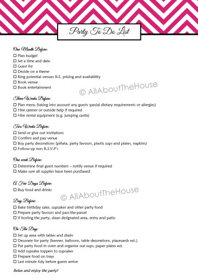 Party To Do List