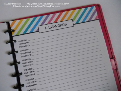 Password printable rainbow