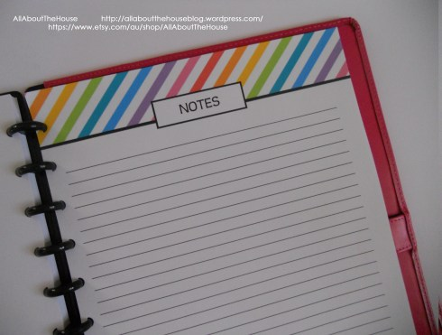 rainbow stripe notes page