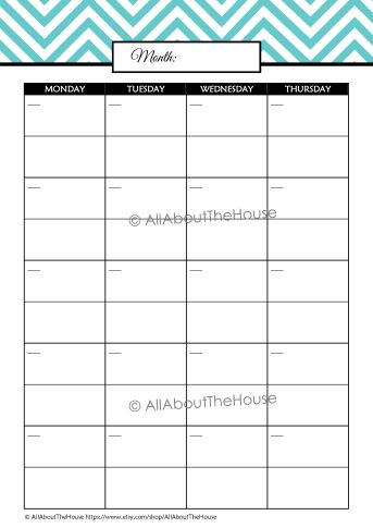 Student Planner Monthly Cal - L Blue(2)