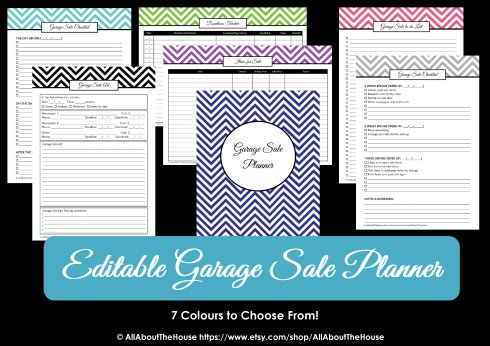 Hosting a garage sale printable