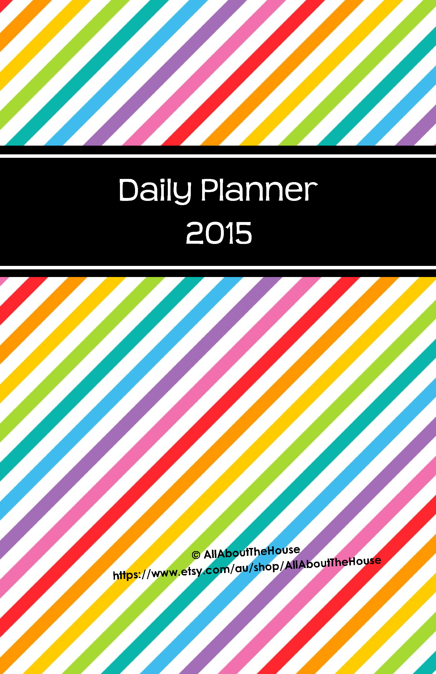 new half size printable planners for 2015