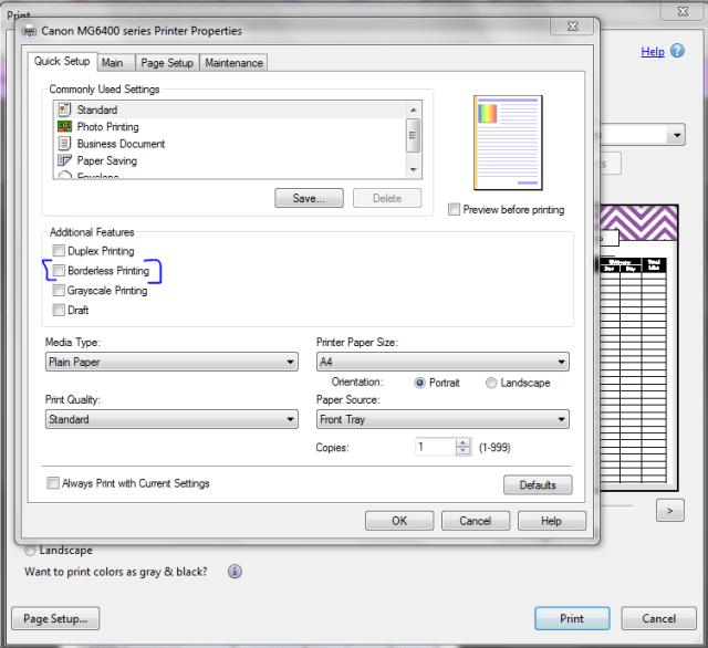 borderless printing step 3
