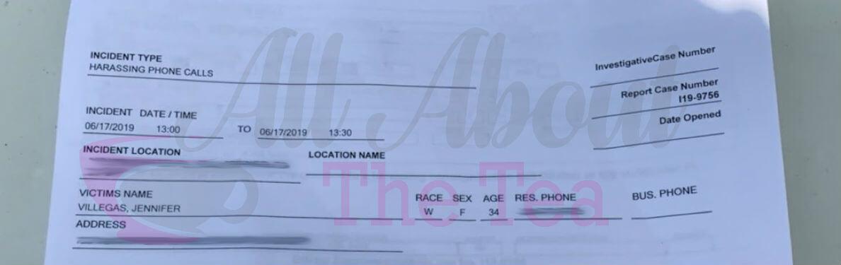 Jennifer Villegas Files Police Report Against Meghan Edmonds