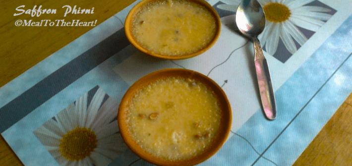 Saffron phirni recipe