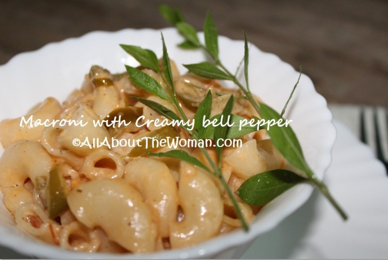 Macaroni with Creamy Bell Peppers 2