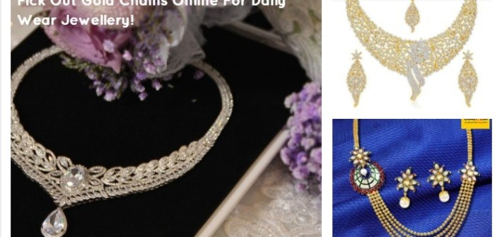Pick Out Gold Chains Online For Daily Wear Jewellery!