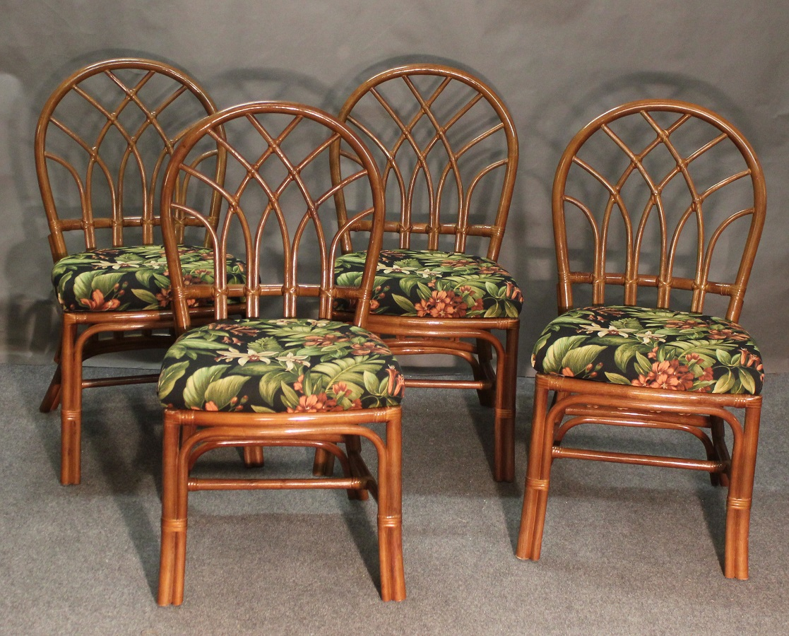 Outdoor Wicker Dining Chairs Set Of 4 Rattan Dining Chairs