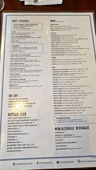 Catal menu
