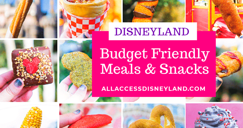budget friendly disneyland meals