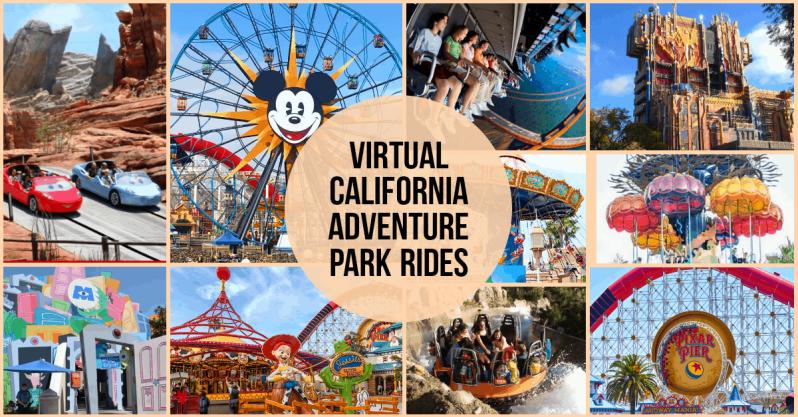 virtual California adventure park rides