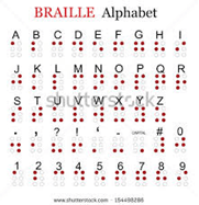 An image depicting alphabet in Braille.
