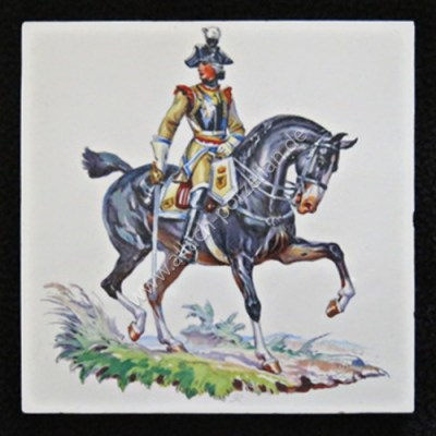 17 Seydliß cuirassier officer - painted tile