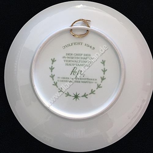 Yule plate 1943 back