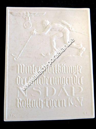Plakette NSDAP Wintersportkämpfe Rottach Egern 1937