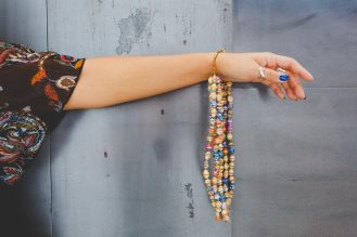 Recycled-Paper Bead Necklace from the same All Across Africa artisans that bring you Friendship Baskets