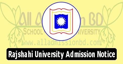Rajshahi University Admission Notice