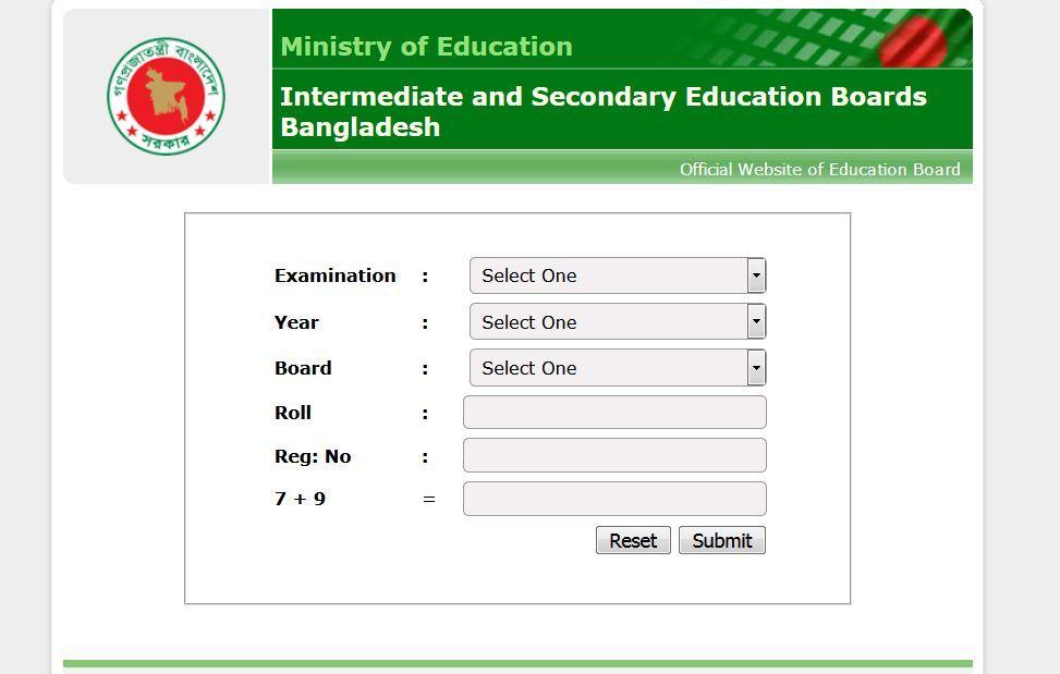 Education Board Result for JSC Result