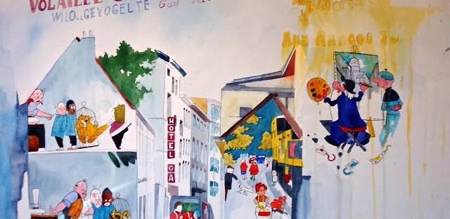Les rues de Bruxelles et ses dessinateurs de BD