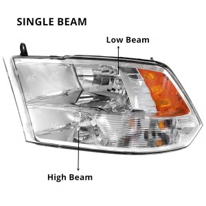 Dodge Ram Truck Headlight Assembly Housing
