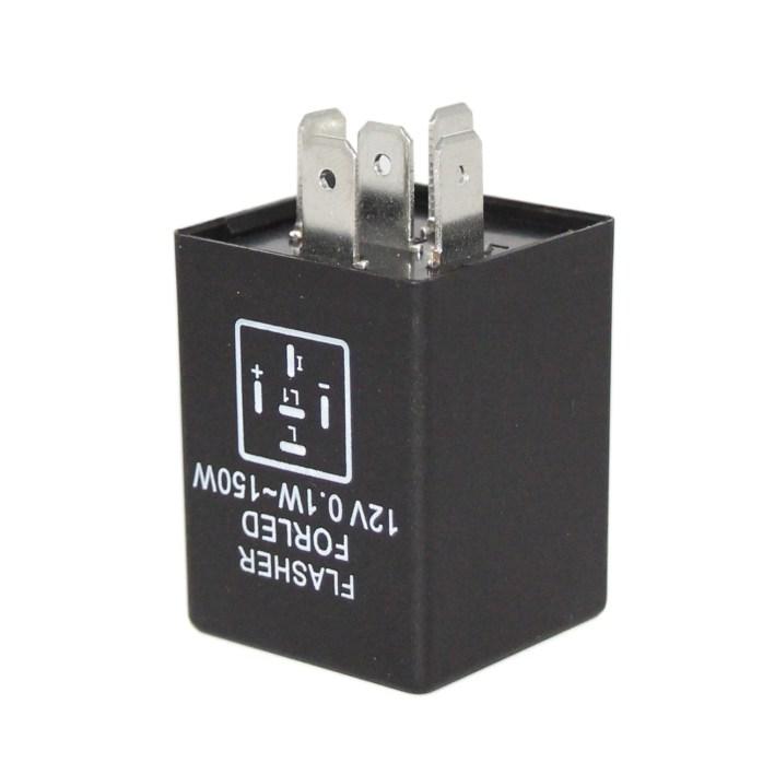 E27-5PIN led flasher relay to Fix Signal Blinker Light Hyper Flash