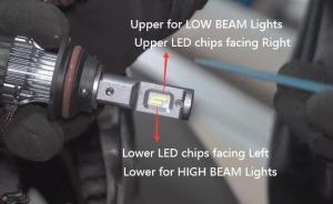 Correct HB5 9007 LED Headlights Bulbs Beam Direction Adjustment