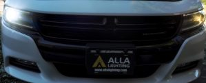 Dodge Charger LED Headlights Bulbs VS Halogen Headlamp Comparison