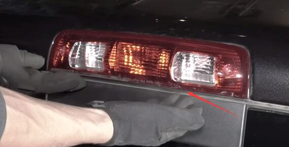 Dodge Ram 1500 3rd Brake Light Center High Mounted Stop Bulbs Housing Remove