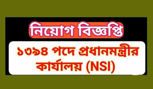 NSI Job Circular, Prime Minister's Office job Circular 2019