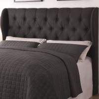Black Button Tuft Headboard Queen or Full