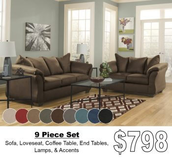 living room package paint ideas brown leather furniture coastal chocolate all american buy 4 less open to public