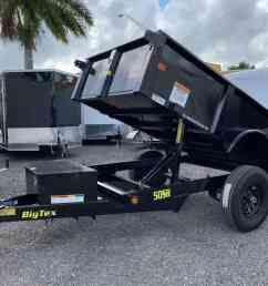 big tex 5x10 dump trailer 2 5 ton 50sr 08 all american trailer company big tex [ 4032 x 3024 Pixel ]