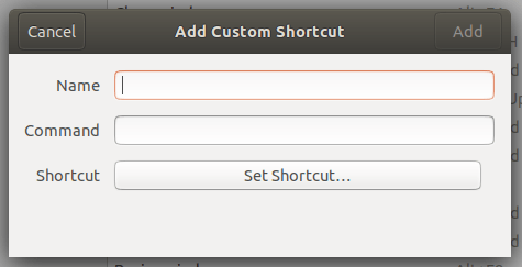 Add Custom Shortcut tool